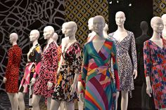 @DVF's Journey of a Dress exhibit [via www.thechicagolifeblog.com]  icon // diane von furstenberg // powerful woman // inspirational // dresses // prints // patterns //wrap dress