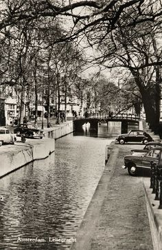 1950's. Leliegracht in the Jordaan, Amsterdam. The Leliegracht is a canal…