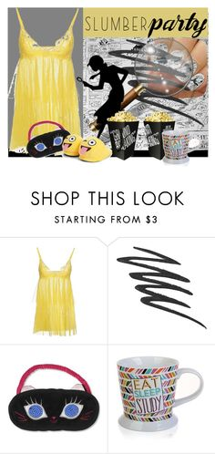 """""""Nancy drew themed sleepover"""" by stephaniefb ❤ liked on Polyvore featuring Christies, Lipstick Queen, Monday, Betsey Johnson and Boohoo"""