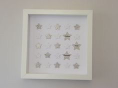 Image of Stars - Small - White/Silver Glitter Star Images, Silver Glitter, Paper Art, Projects To Try, Nursery, Stars, Frame, Handmade, Alphabet
