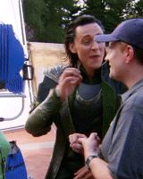 Tom Hiddleston. I don't know what he's talking about, but he seems very into his explanation! XD