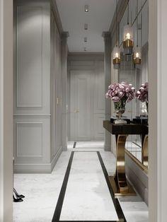 53 super ideas for home luxury decor entrance Luxury Homes Interior, Luxury Home Decor, Home Interior Design, Entrance Design, Hall Design, Entrance Ideas, Flur Design, Halls, Modern Hall