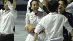 With Mao Asada and Tatsuki Machida(JAPAN) : Cup of China 2012 Finale
