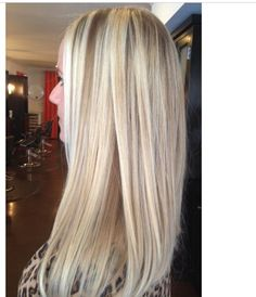 Blonde Balyage (baliage) by Robyn Zekaria on straight hair