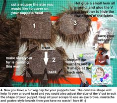 VR Puppet Builds: Making a fur wig cap for a puppet, plus video