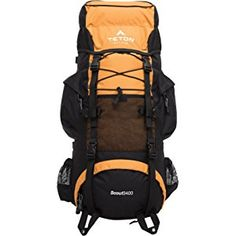 TETON Sports Scout 3400 Internal Frame Backpack, For Backpacking, Camping and Hiking, Orange Best Hiking Backpacks, Cool Backpacks, Best Backpacking Tent, Internal Frame Backpack, Best Travel Backpack, Orange Backpacks, Backpack Reviews, Tactical Backpack, North Face Backpack