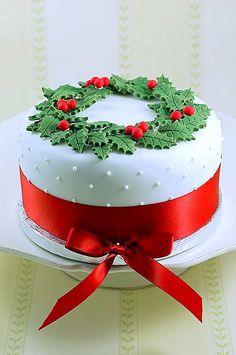 15 Awesome Christmas Cake Designs Cake Design And Decorating Ideas Christmas Cake Designs, Christmas Cake Decorations, Christmas Sweets, Holiday Cakes, Christmas Cooking, Noel Christmas, Christmas Goodies, Christmas Cakes, Xmas Cakes
