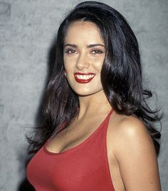 Salma Hayek  Mexican actress Selma Hayek may be tiny, but she clearly has a surplus of charisma and talent to boot. Her curvaceous figure, enormous eyes, spitfire spirit were totally charming in back in 1995, when we first saw her in Robert Rodriguez's Desperado, and she's only gotten better with time.