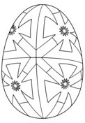 Easter Egg with Geometric Pattern Coloring page