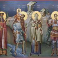 Orthodox Icons, Byzantine, Christianity, Santa, Scene, Painting, Murals, Charity, Sacred Art