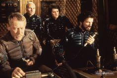 Dune (1984) Publicity still of Kyle MacLachlan, Max von Sydow, Patrick Stewart & Jürgen Prochnow