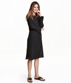 Vestido de crepé | Negro | Mujer | H&M MX