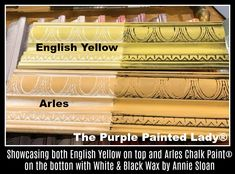 Difference of Arles and English Yellow Chalk Paint® with White & Black Wax by The Purple Painted Lady