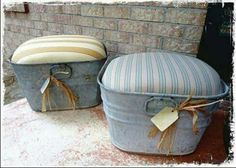 Wash tub ottomans