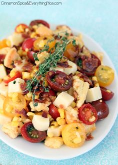 Mozzarella, Bacon, Tomato & Corn Salad