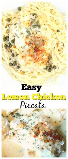 Easy Lemon Chicken Piccata. Get Dinner on the Table in less than 30 minutes with this quick and easy chicken dish. It's delicious and kid friendly. Perfect for busy weeknights.  via @mellisaswigart