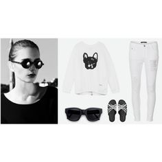"""Black and white"" by dldr on Polyvore"