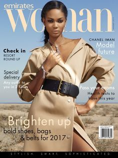 Chanel Iman on Emirates Woman January 2017 Cover