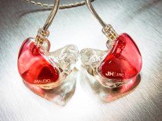 White/Red  Transparent JHAUDIO Custom In Ear Monitor