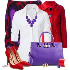 Red and Purple, created by angkclaxton on Polyvore