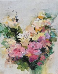 Acrylic abstract art/impressionist flower painting/modern