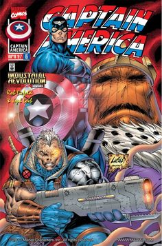 CAB3CAB3 Captain America Vol. #6 Cover Published: April 1997 Cover by Rob Liefeld  Example of 90's exaggeration. Big guns, big muscles. Basic anatomy not needed.