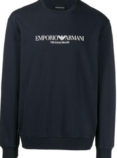 Embrace casual Italian elegance by purchasing a signature piece from Emporio Armanis newest collection. The proud owner of a refined aesthetic Emporio Armani is the goto brand when you want to dress with effortless luxury. Featuring a crew neck with welt finishing long sleeves a straight hem and a relaxed fit. Armani Logo, Emporio Armani, Crew Neck, It Is Finished, Elegant, Luxury, Sweatshirts, Long Sleeve, Fit