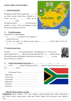 General facts about South Africa