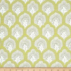 Lacefield Isla Slub Spring from @fabricdotcom  Screen printed on cotton slub cloth (has the appearance of linen) this medium weight fabric is very versatile. This fabric is perfect for window treatments (draperies, curtains, valances, and swags), bed skirts, duvet covers, pillow shams, accent pillows, tote bags, aprons, slipcovers and upholstery. Colors include yellow, white and grey.. This fabric has 9,000 Rubs.