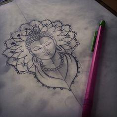 #mulpix Buddha head design #tattoo #tattooist #tattoodesign #buddha…