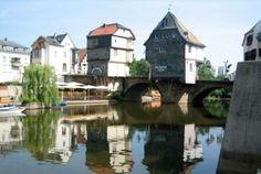 Сказочные дома-мосты из разных уголков мира: Дома на мосту через реку Наэ, Бад-Кройцнах, Германия