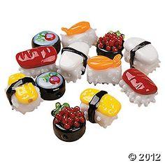 Sushi Lampwork Glass Beads