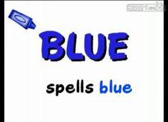 Color B-L-U-E blue song - Kindergarten