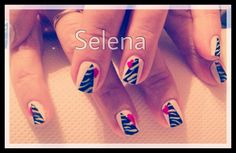 Selena nail art