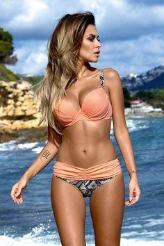 2016 New Sexy Bikinis Women Swimsuit High Waisted Bathing Suits Swim Halter Top Push Up Bikini Set Beach Plus Size Swimwear XL