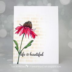 Tim Holtz Flower Garden Coneflower colored using Copics.  I modeled it after one that is currently blooming in my garden.
