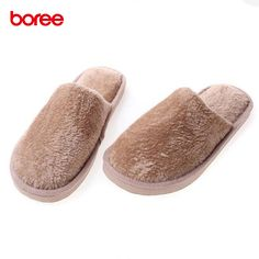 Boree Solid Cotton Slippers Fashion Women Men Home Shoes Non-slip Candy Color Cotton Drag Warm Home Slippers Bedroom Mujer 84