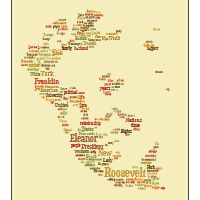 upload pic of self or other, insert words to describe said person, and Tagxedo…