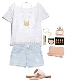 """""""Untitled #173"""" by ablrichh on Polyvore featuring Lilly Pulitzer, Yves Saint Laurent, Christian Dior, Bobbi Brown Cosmetics, Kendra Scott, Alex and Ani, MANGO, Jack Rogers and Tory Burch"""