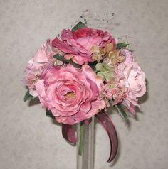 ウエディングブーケ♪アートフラワー♪アンテークカラー ピンク|Accessories Collection-アクセサリーコレクション-