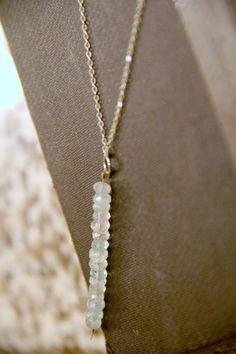 GENUINE Raw Aquamarine Necklace Healing Crystal by rememberZEN