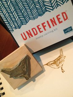 Stampin' Up! Undefined carving kit---wren. So fun!  By Kris Trimmier
