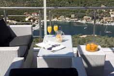 Welcome to Dream View Villas οn Lefkada island, Syvota Villas, Greece, Island, Table Decorations, Furniture, Home Decor, Block Island, Decoration Home, Villa