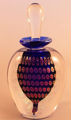 Cobalt Blue Peacock Perfume Bottle Indoor
