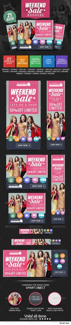 Weekend Mega Sale Banners Template PSD   Buy and Download: http://graphicriver.net/item/weekend-mega-sale-banners/8154023?WT.ac=category_thumb&WT.z_author=doto&ref=ksioks
