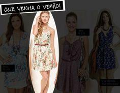 """No Blog da Revista GLOSS o vestido da Antix na matéria """"Está aberta a temporada dos vestidos"""""""