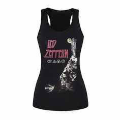 New 2017 Fashion Led Zeppelin Design 3D Print Tank Tops Harajuku Sleeveless Black T Shirts Fitness Women Vest Casual Camisole