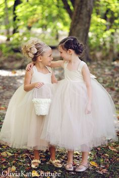 Champagne Flower Girl Dress. $132.95, via Etsy.
