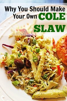 Cole slaw is one of the easiest summer side dishes to make. It's a shame folks settle for the soggy mess at the deli counter. No more! Make your own!