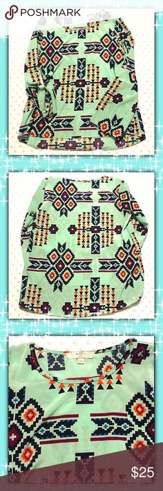 Moa Moa Blouse Like New. Excellent Condition. Aztec Blouse Moa Moa Shirts & Tops Blouses